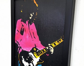 Jimmy Page Framed Wall Art Guitar