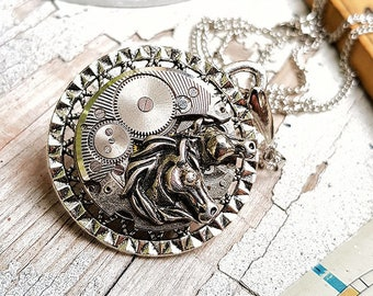 Steampunk Horses Necklace