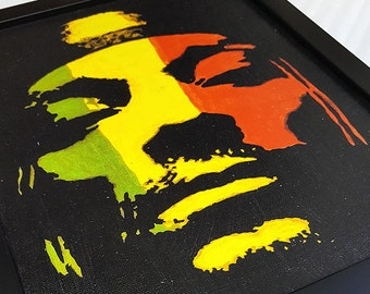 90s Rap Snoop Dogg Canvas Artwork Framed Rasta Wall Art Paint Painting Poster Mixed Media Music GIft Hip Hop Rap Decor Wall Art