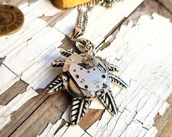 Marijuana Necklace - Watch Part Weed Necklace