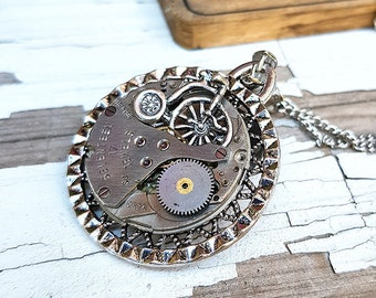 Steampunk Bicycle Pendant Necklace Watch Charm Part Vintage Jewelry Necklaces - Amazing Fitness Cycling Gifts Biker Girl Gift