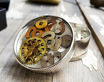 Love Arrow Herb Grinder Girly Steampunk Spice Crusher Marijuana herbs weed metal grinders Amazing pocket size Angel Cherub gift boys girls