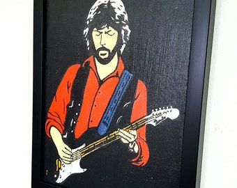 Eric Clapton Guitar Framed Wall Art