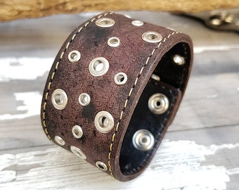 Steampunk Owl Cuff Bracelet Leather