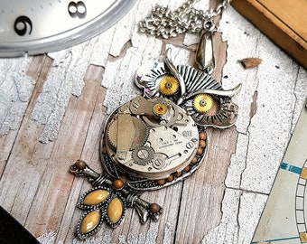 Large Owl Necklace Pendant