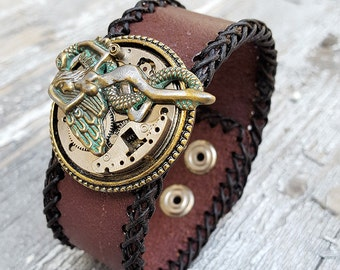 Fallen Angel Bracelet Leather Cuff