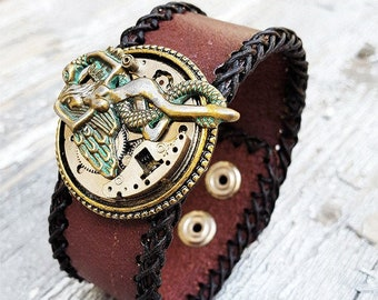 Fallen Angel Bracelet Leather Cuff