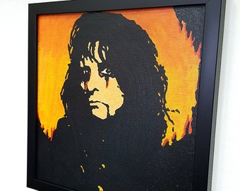 Alice Cooper Framed Wall Art Canvas Artwork