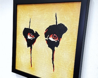Alice Cooper Wall Art Framed, Giclee Canvas Framed Paint, Alice Cooper Painting, Alice Cooper Poster, Heavy Metal Decor Rock N Roll