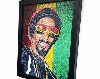 Snoop Dogg Framed  Wall Art Canvas