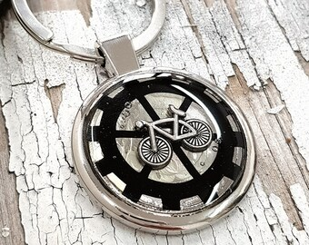 Bicycle Keychain Cycle Biker Keyring