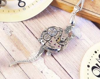 Steampunk Lizard Necklace