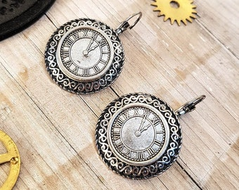 Steampunk Earrings Watch Parts