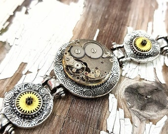 Steampunk Bracelet Cog Ladies - Gear Bracelet