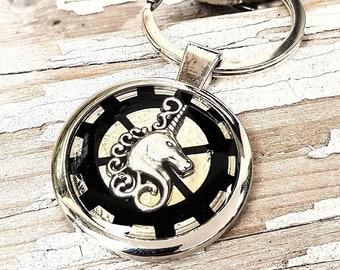 Keyring Unicorn Keychain Steampunk