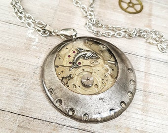 Steampunk Dolphin Necklace
