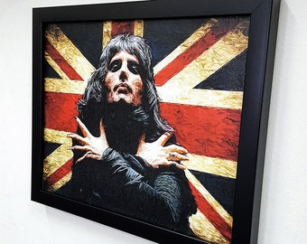 Freddie Mercury Wall Art Framed Canvas