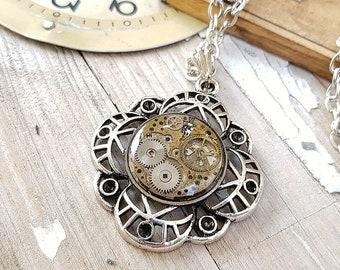 Steampunk Medallion Necklace Pendant
