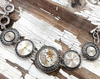 Steampunk Bracelet Cog Ladies - Gear Bracelet