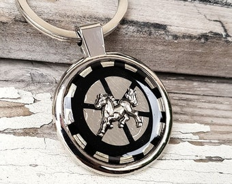 Steampunk Keychain Horse KeyRing Mustang
