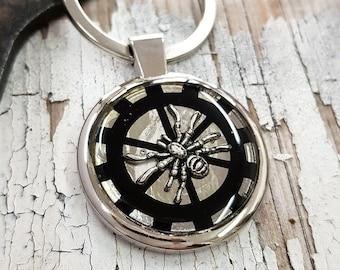 Steampunk Keychain Spider KeyRing