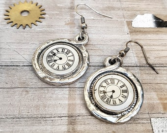 Watch Part Steampunk Earrings