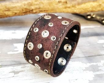 Steampunk Bracelet Cuff Leather