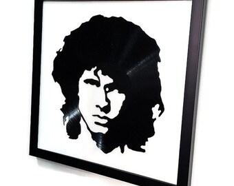 Jim Morrison Framed Vinyl Record Wall Hanging