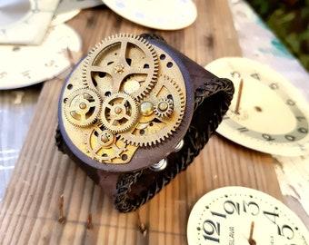 Steampunk Wristband Cuff Bracelet