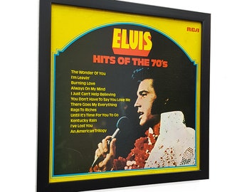 Elvis Presley Wall Art Framed with Clock