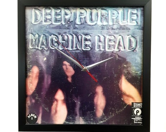 Deep Purple Album Cover Art Clock or Framed