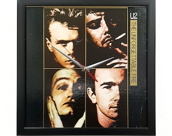 U2 Album Cover Art Clock or Framed