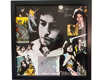 Bob Dylan Album Cover Art Framed Clock