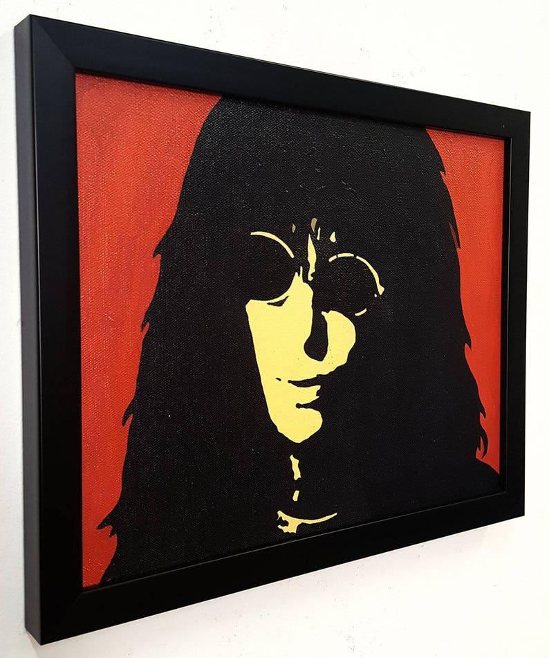 Joey Ramone punk rock Wall Art incorniciato, Ramones poster Canvas opera d'arte pittura, punk rock n Roll regalo Home Decor arte retrò vernice stile