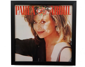 Paula Abdul Album Wall Art Framed or Clock, Retro Vintage Album Cover Music Poster, Vinyl Record Art Clock, Retro Pop Dance Decor Music