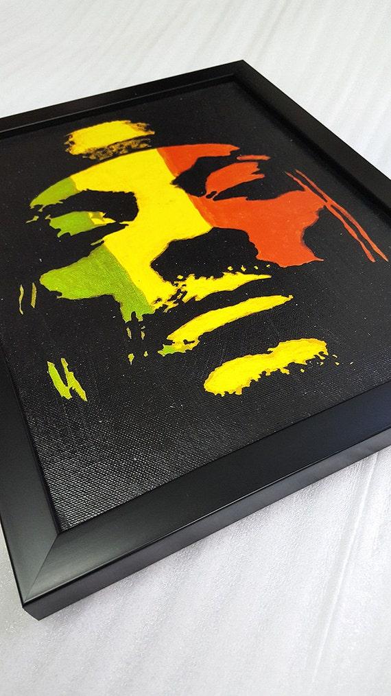 90s rap Snoop Dogg tela opera d'arte incorniciata Rasta parete pittura arte pittura Poster mista musica regalo Hip Hop Rap Decor parete arte
