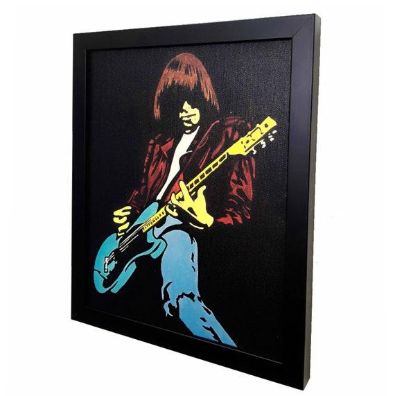 Johnny Ramone Punk Rock Wall Art Ramones incorniciato tela opera d'arte Pop Poster Rock n Roll regalo Decor pittura stampa mista di disegno