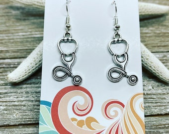 Stethoscope charm earrings