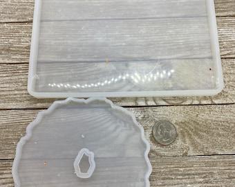 Destash set of 2 silicone molds for epoxy resin