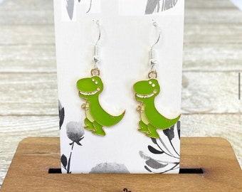Baby dinosaur earrings