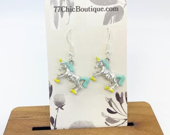 Unicorn charm earrings