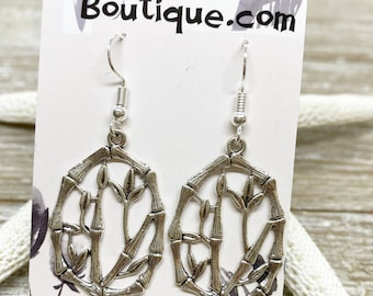 Bamboo charm earrings