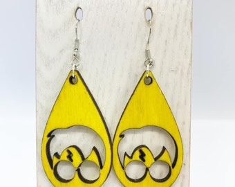 Aspen wood harry potter earrings