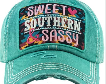 Sweet southern and sassy baseball hat
