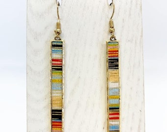 Serape bar earrings