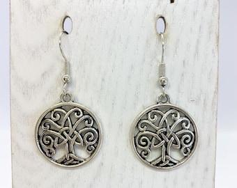 Celtic tree of life charm earrings