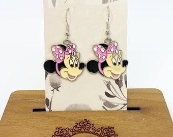 Minnie mouse charm earrings