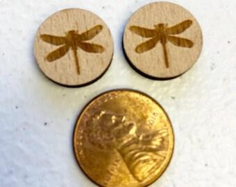 Aspen wood stud earrings