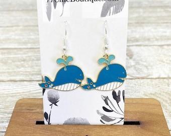 Whale earrings
