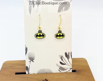 Batman charm earrings